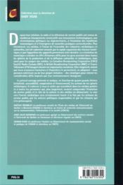 Le service public médiatique à l'ère numérique ; Radio-Canada, BBC, France Télévisions : expériences croisées - 4ème de couverture - Format classique