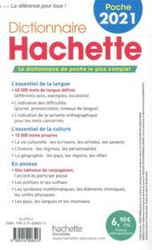 Dictionnaire Hachette français poche (édition 2021) - 4ème de couverture - Format classique