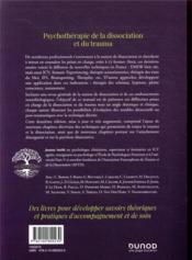 Psychothérapie de la dissociation et du trauma (2e édition) - 4ème de couverture - Format classique