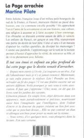 La page arrachée - 4ème de couverture - Format classique