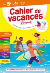 Cahier de vacances ; de la 5e à la 4e ; 12/13 ans - Couverture - Format classique