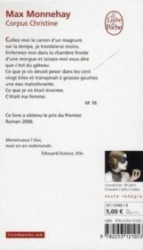 Corpus Christine - Couverture - Format classique