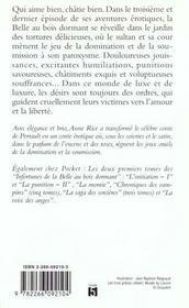 Les infortunes de la belle au bois dormant t.3 ; la libération - 4ème de couverture - Format classique