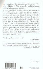 Le Mas Des Oliviers - 4ème de couverture - Format classique