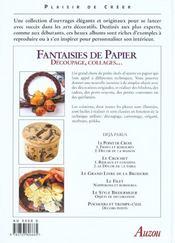 Fantaisies de papiers - 4ème de couverture - Format classique