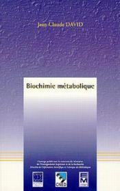 Biochimie metabolique - Couverture - Format classique