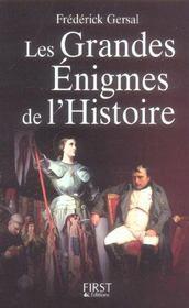 Les grandes enigmes de l'histoire - Intérieur - Format classique