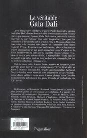 La veritable gala dali - 4ème de couverture - Format classique