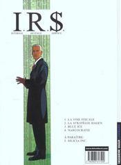 I.R.$ t.4 ; narcocratie - 4ème de couverture - Format classique