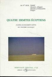 Quatre ermites egyptiens - Couverture - Format classique