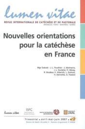 Nouvelles Orientations Pour La Catechese En France - Couverture - Format classique