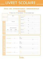 Livret scolaire istra ; cycle 2 - Couverture - Format classique