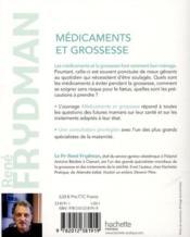 Medicaments et grossesse - 4ème de couverture - Format classique