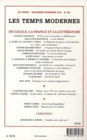 Revue Les Temps Modernes N.662 ; Guadeloupe-Martinique, Janvier-Mars 2009, La Révolte Méprisée - 4ème de couverture - Format classique