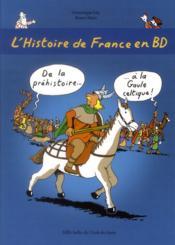 Histoire de France en BD t.1 ; de la préhistoire à la Gaule celtique - Couverture - Format classique