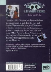 Les étranges soeurs Wilcox t.1 ; les vampires de Londres - 4ème de couverture - Format classique
