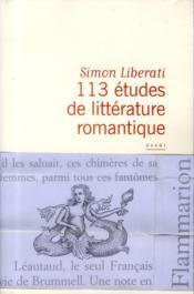 113 études de littérature romantique - Couverture - Format classique