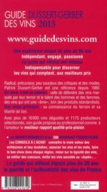Le guide Dussert-Gerber des vins (édition 2013) - 4ème de couverture - Format classique