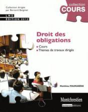 Droit des obligations (2e édition) - Couverture - Format classique