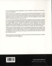 Droit des obligations (2e édition) - 4ème de couverture - Format classique