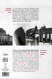 REVUE ALLEMAGNE D'AUJOURD'HUI N.204 ; retour sur le 50e anniversaire du Traité de l'Elysée ; Wolfgang Hilbig : Ich ou l'insaisissable déplacement - 4ème de couverture - Format classique