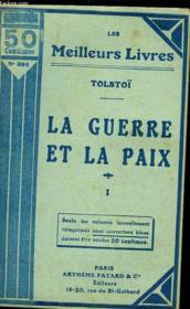 La Guerre Et La Paix - Tome 1 - Couverture - Format classique