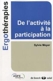 De l'activité à la participation - Couverture - Format classique