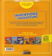 Inventions et inventeurs - 4ème de couverture - Format classique