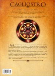 Cagliostro t.1 ; le pacte avec le diable - 4ème de couverture - Format classique