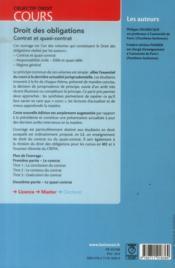 Droit des obligations ; contrat et quasi contrat (6e édition) - 4ème de couverture - Format classique