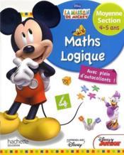 Mickey ; mathématiques-logique ; moyenne section ; 4/5 ans - Couverture - Format classique