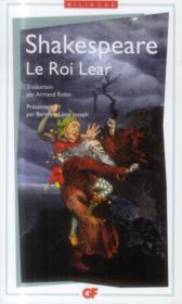 Le roi Lear - Couverture - Format classique