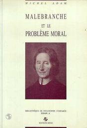 Malebranche Et Le Probleme Moral - Intérieur - Format classique