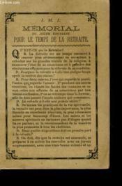 Memorial Du Jeune Etudiant Pour Le Temps De La Retraite - Couverture - Format classique
