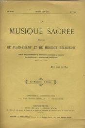 LA MUSIQUE SACREE N°7 ET 8 - 16ème année. - Couverture - Format classique