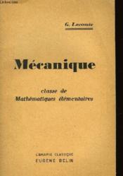 Mecanique - Couverture - Format classique