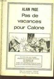 Pas De Vacances Pour Calone - N°42 - Couverture - Format classique