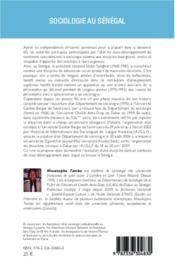 Sociologie au Sénégal - 4ème de couverture - Format classique
