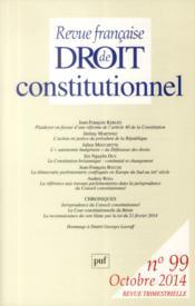 Revue Francaise De Droit Constitutionnel N.99 - Couverture - Format classique