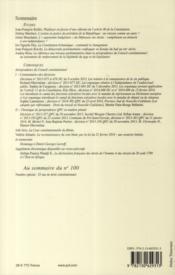 Revue Francaise De Droit Constitutionnel N.99 - 4ème de couverture - Format classique
