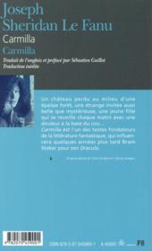 Carmilla - 4ème de couverture - Format classique