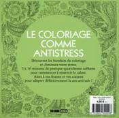 100 mandalas à colorier - 4ème de couverture - Format classique