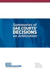 Summaries of UAE courts' decisions on arbitration - Couverture - Format classique