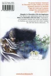 Saint Seiya - the lost Canvas ; chronicles T.10 - 4ème de couverture - Format classique