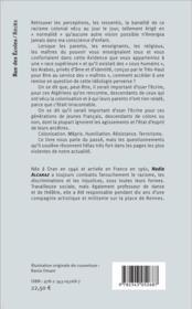 Rage fut mon pays d'accueil ; Algérie 1946-1961 - 4ème de couverture - Format classique