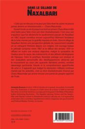 Dans le sillage de Naxalbari - 4ème de couverture - Format classique