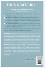 Tous orateurs ; convaincre, négocier, s'affirmer au quotidien (2e édition) - 4ème de couverture - Format classique