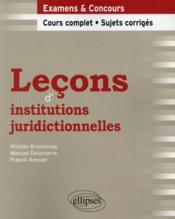 Lecons D'Institutions Juridictionnelles - Couverture - Format classique