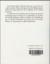 Mythologie de l artisan - 4ème de couverture - Format classique
