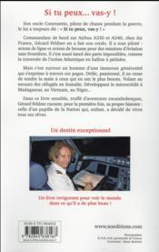 Si tu peux ... vas-y ! journal d'un pilote aventurier - 4ème de couverture - Format classique